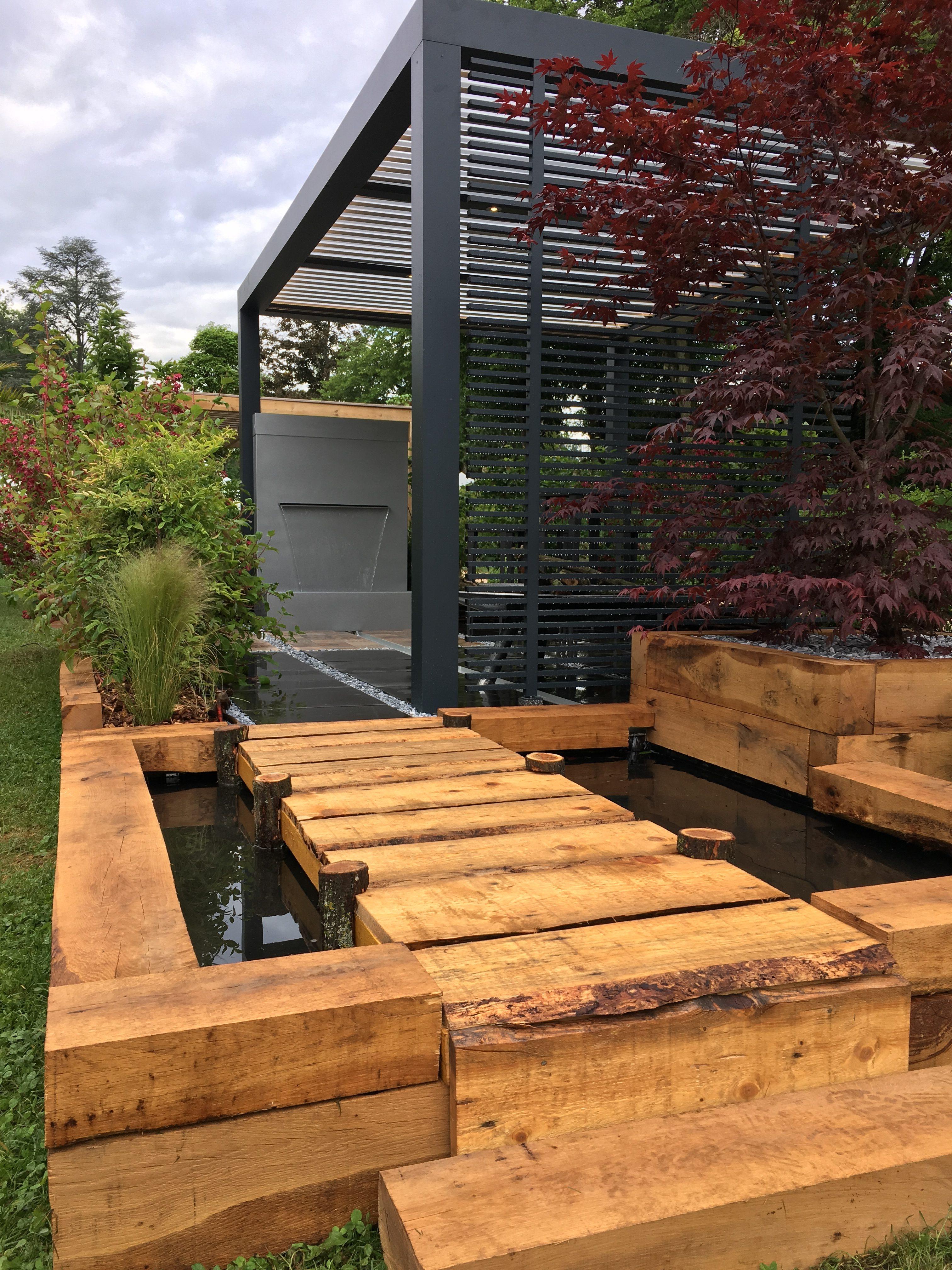 Jardin zen et Pergola Bioclimatique - Agence AED - Ambiance ...
